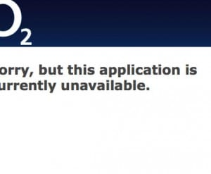 O2 website down