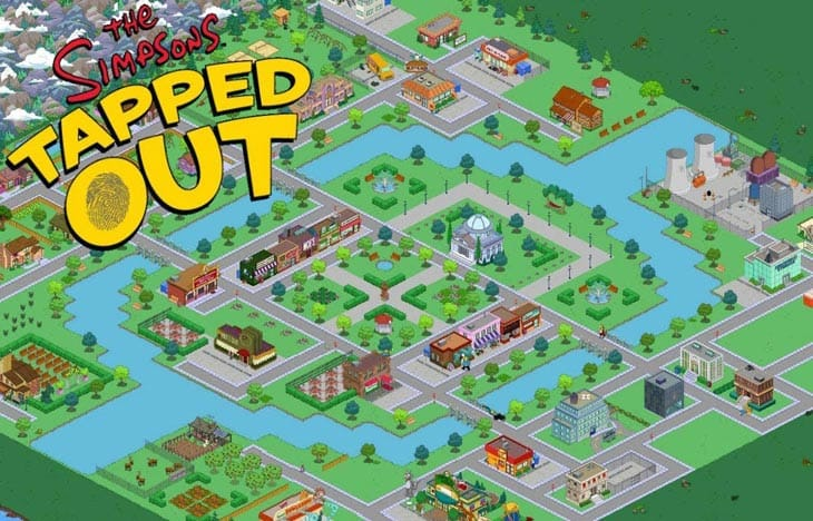 The Simpsons Tapped out apk android, pc et ios