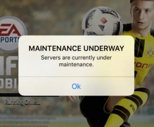 FIFA Mobile server problems or maintenance