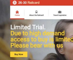 26-30 Railcard website problems