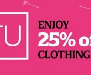 Sainsbury's 25% Off TU Clothing Sale