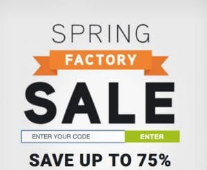 Vax Factory Spring Sale