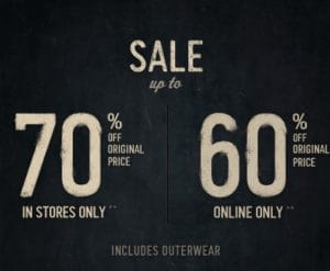 Hollister 60% Off Sale