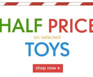 Mothercare Half Price Toy Sale