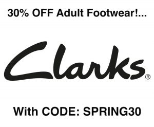 30% OFF Women and Mens Footwear with Code at Clarks