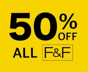 50% OFF F&F Clothing Sale at Tesco