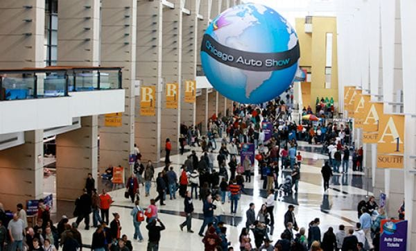 2013 Chicago Auto Show appearances, events and floor plan