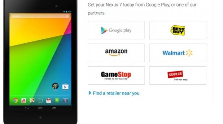 2013 Nexus 7 stock availability bewilderment