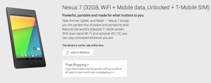 Problems with 2013 Nexus 7 stock