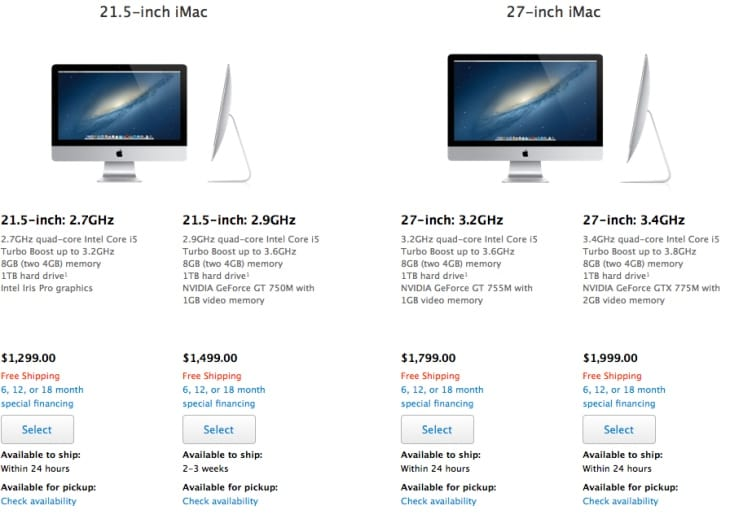 New 2013 iMac models offers increased performance over predecessor