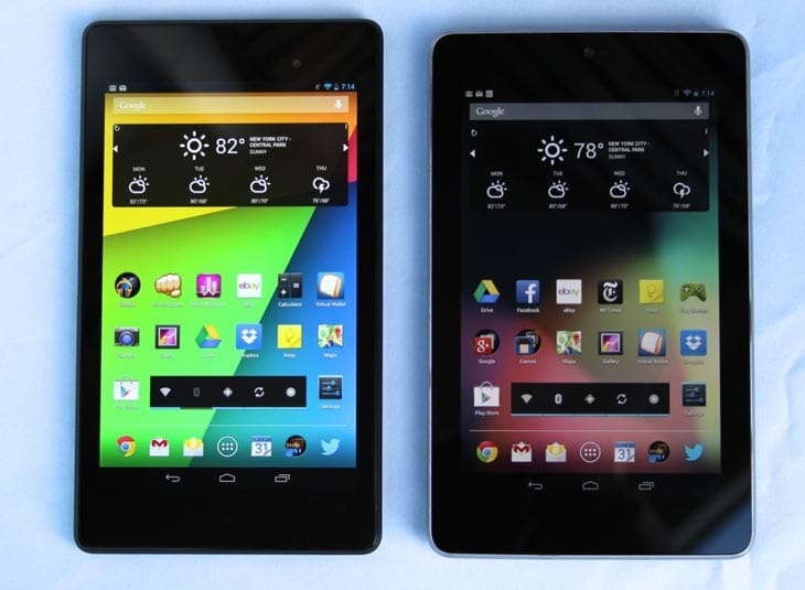The 2013 Nexus 7 on left next to the older version