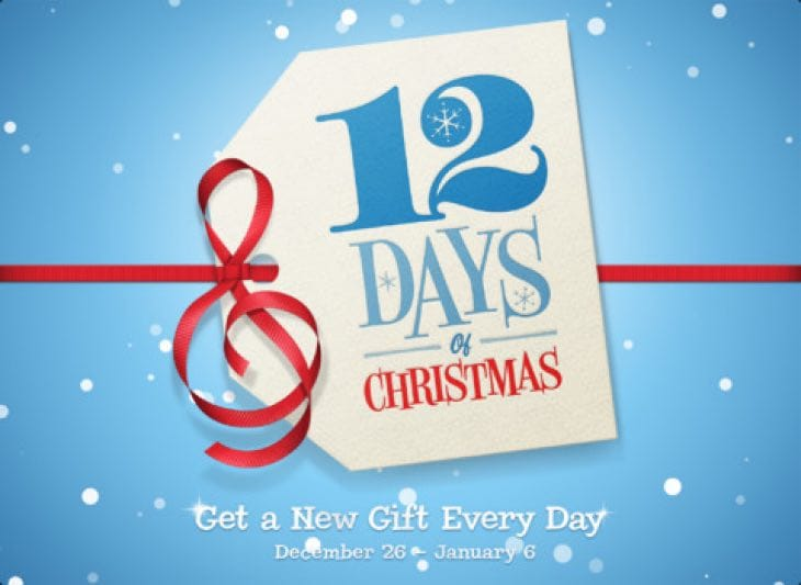 2014 Apple 12 days iTunes app
