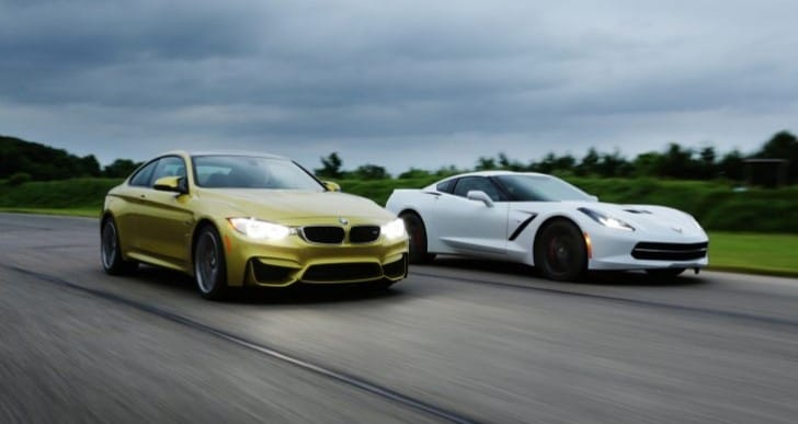 2014 Chevrolet Corvette vs. 2015 BMW M4 outcome