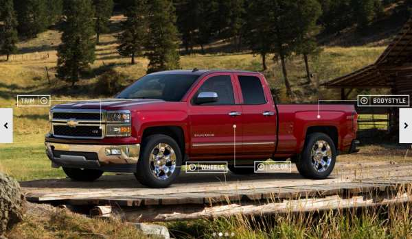 2014 Chevrolet Silverado configurator live, lacks pricing