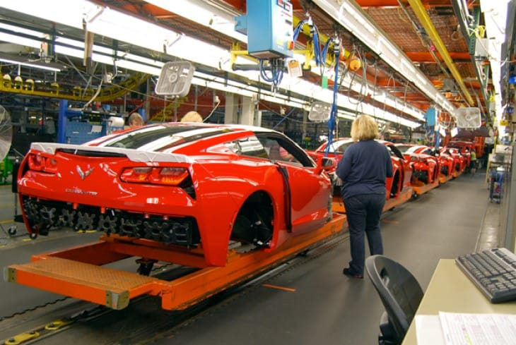 You can now pay to see the 2014 Chevy C7 Corvette Stingray production line