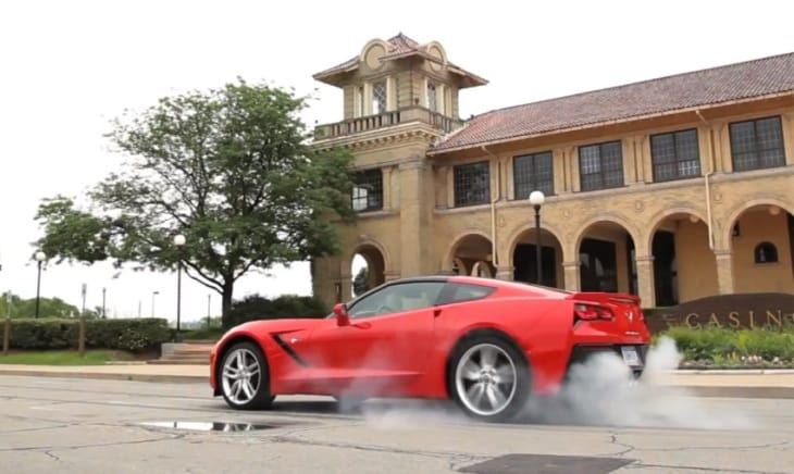 2014 Chevy Corvette Stingray burnout