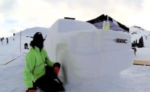 2014 GMC Sierra sculpture filmed on GoPro Hero 3