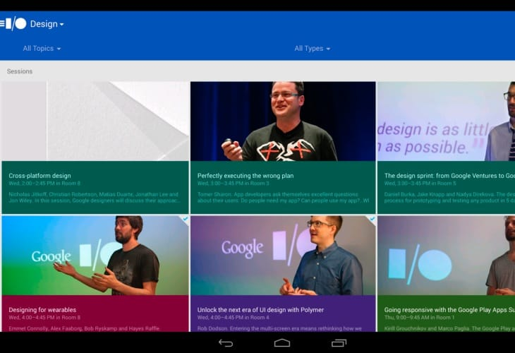 2014 Google I:O Android app update lands