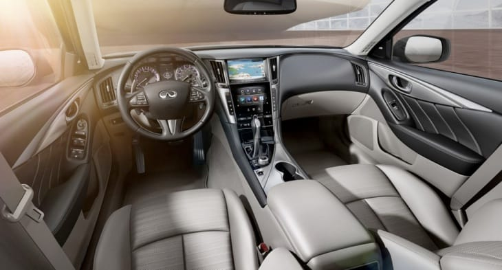 2014 Infiniti QX80 standard and optional driver aid technologies is staggering
