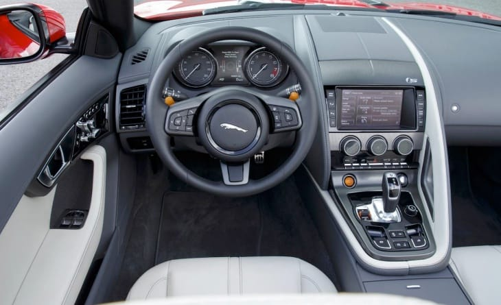 The 2014 Jaguar F-Type V8 S interior is a thing of beauty