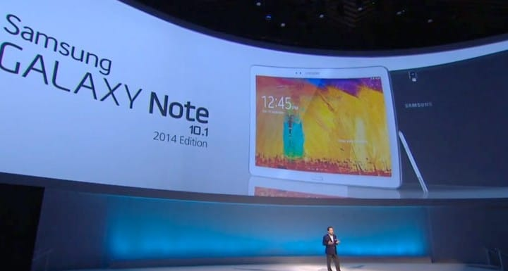 2014 Samsung Galaxy Note 10.1 first look