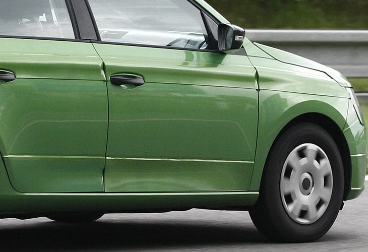 2014 Skoda Fabia exterior changes become clear