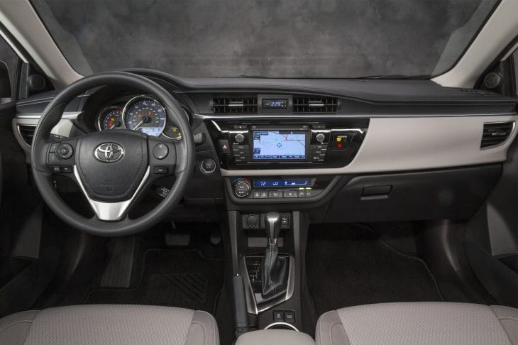 2014 Toyota Corolla interior pictures show functionality 2