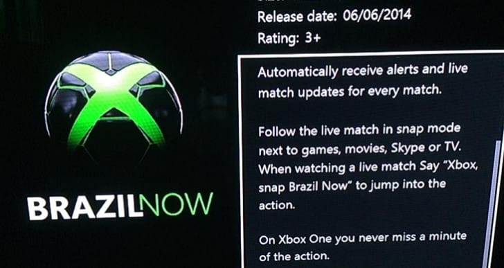 2014 World Cup update in Xbox One games