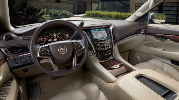 The 2015 Cadillac Escalade interior is a place of luxury