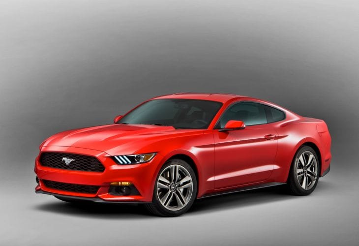 2015 Ford Mustang color and trim options