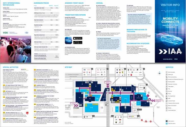 2015 Frankfurt Motor Show map