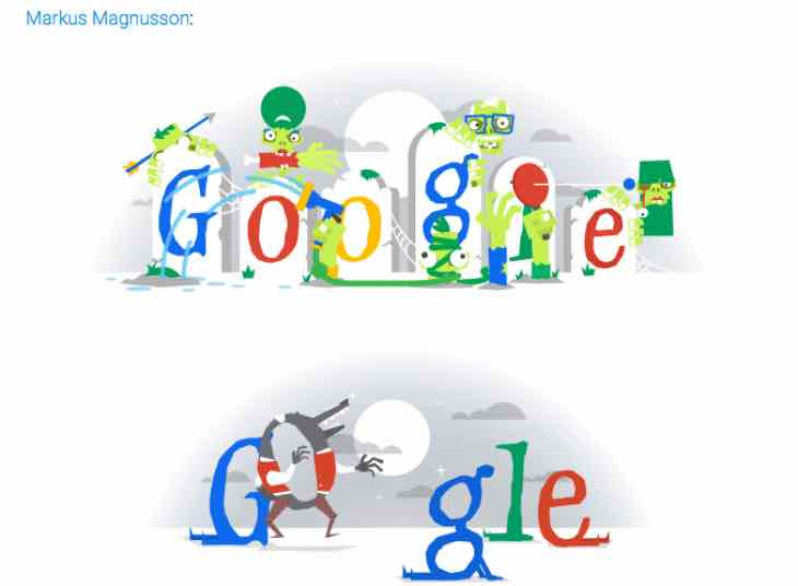 2015 halloween google doodle build up with previous years product