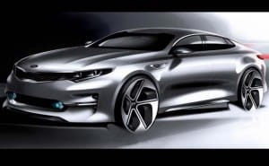 2015 Kia Optima design sketches teases Mondeo rival