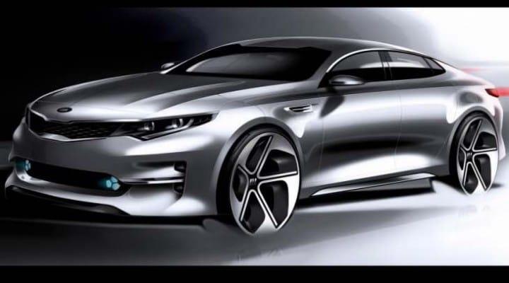 2015 Kia Optima design sketches teases Mondeo rival