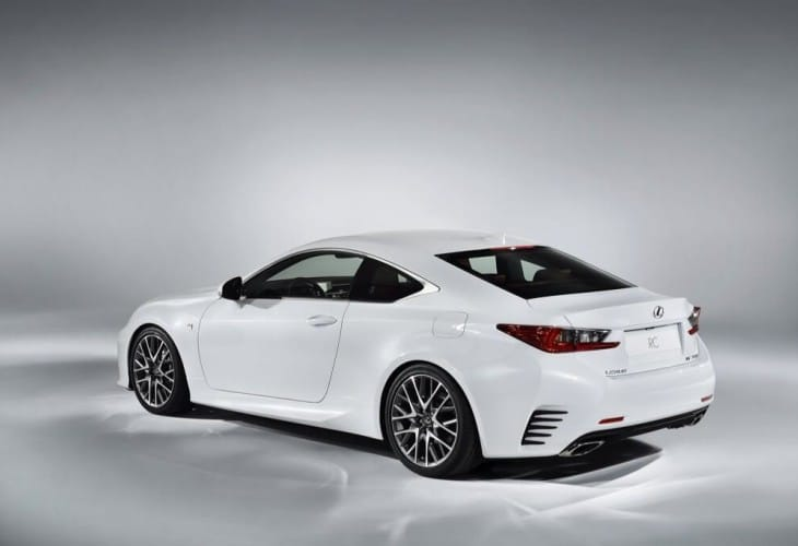 2015 Lexus RC F visual to aid decision