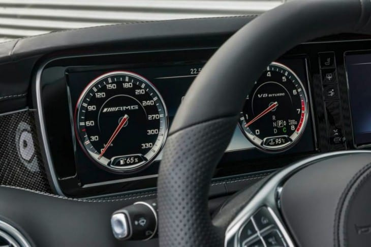 2015 Mercedes S63 AMG 4MATIC Coupe cluster
