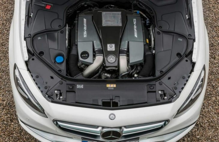 2015 Mercedes S63 AMG 4MATIC Coupe engine