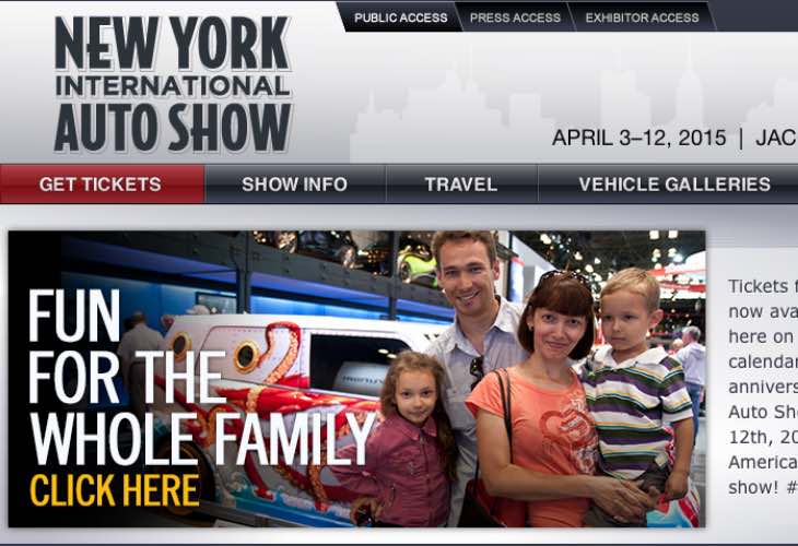 2015 New York Auto Show dates, tickets and price