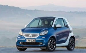 2015 Smart ForTwo options include Twinamic transmission