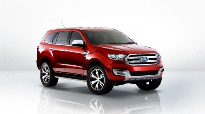 2016 Ford Endeavour safety features for India limited