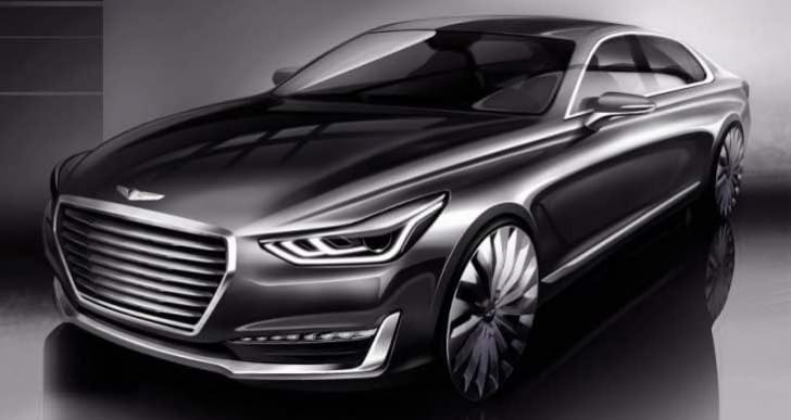 2016 Hyundai Genesis G90 UK release mentioned in reveal