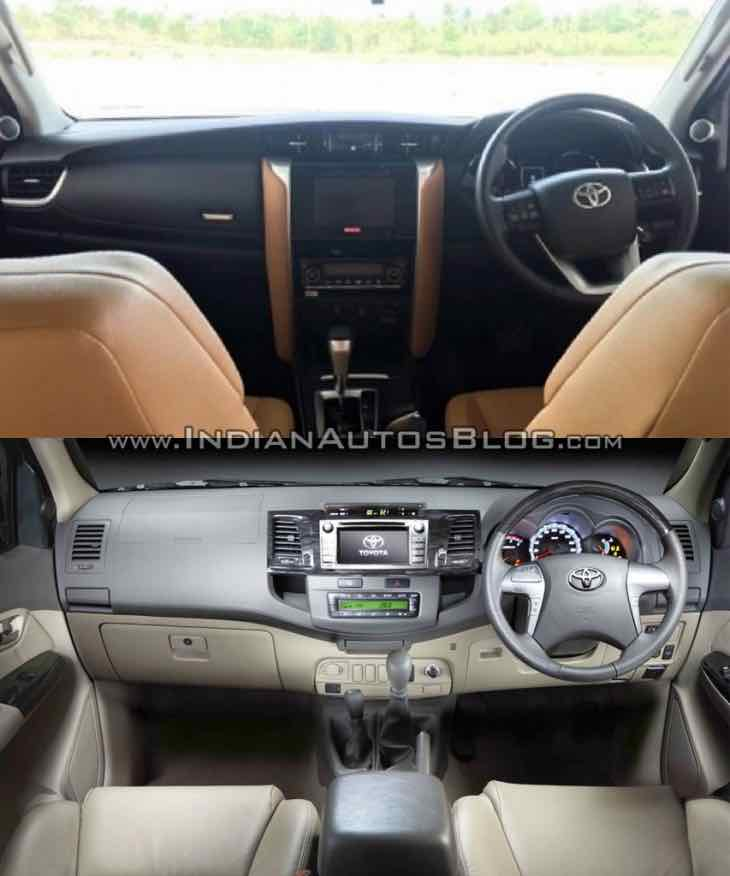 2016 Toyota Fortuner Vs old model