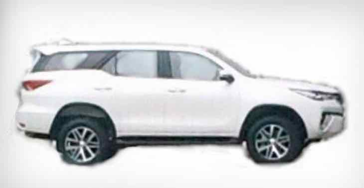 2016 Toyota Fortuner side view