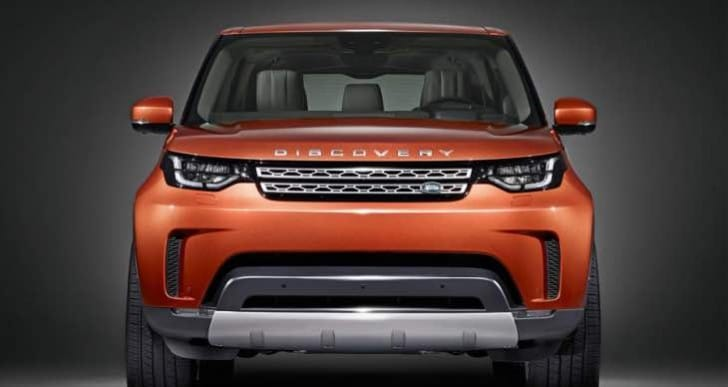 2017 Land Rover Discovery front-end styling deliberated