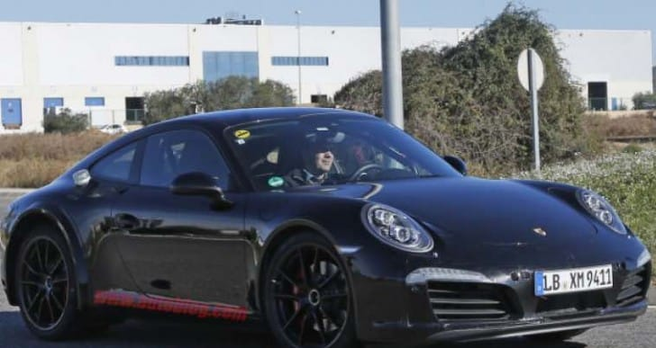 Next-gen Porsche 911 spy shots hide plug-in hybrid powertrain