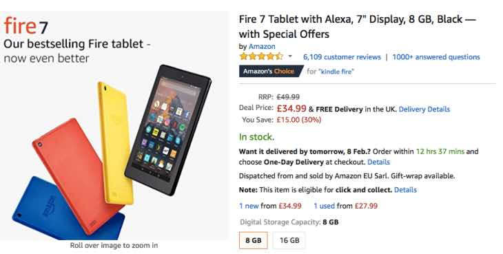 Wondrous Amazon Fire Tablet Price Cut For February 2018 Product Best Image Libraries Counlowcountryjoecom