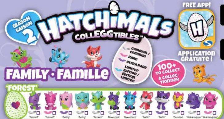 Hatchimals Season 2 full list with Golden Hatchimal