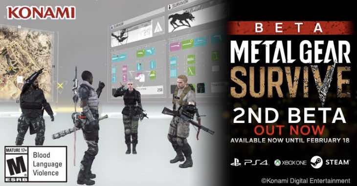 Metal Gear Survive Beta 2 download live on PS4, Xbox One
