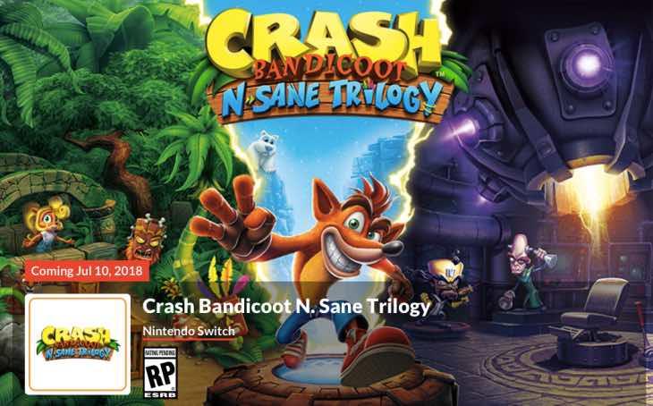 Us Auto Sales >> Crash Bandicoot Trilogy Nintendo Switch developer revealed ...
