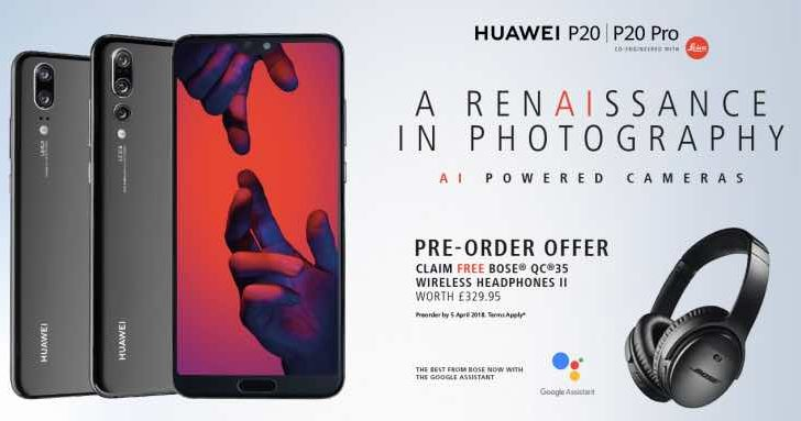 Huawei P20 Pro UK deal offers free Bose headphones